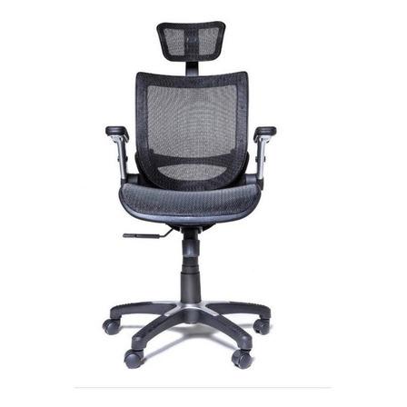 Cadeira de escritório Midshop Metro HEAD ergonômica  preta