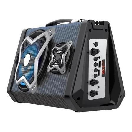 Caixa de som Multilaser Bluetooth Sound System portátil preta 110V/220V
