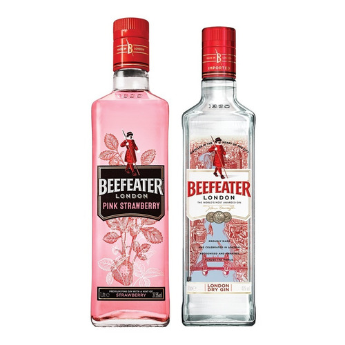 Combo Beefeater London Dry Gin 1l + Beefeater Pink 700ml