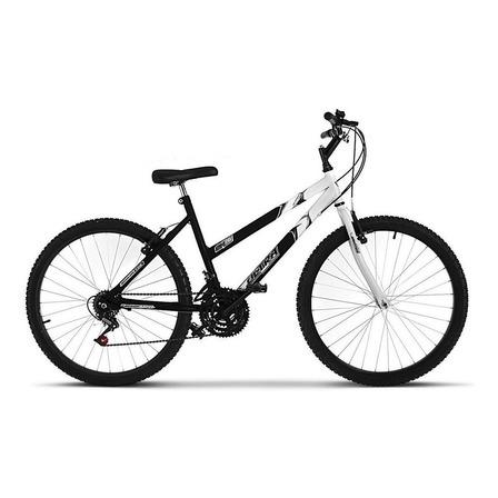 Bicicleta  Ultra Bikes Bike Aro 26 bicolor 18 marchas aro 26 18v freios v-brakes cor preto/branco