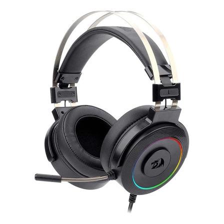Fone de ouvido gamer Redragon H320 Lamia 2 black com luz rgb