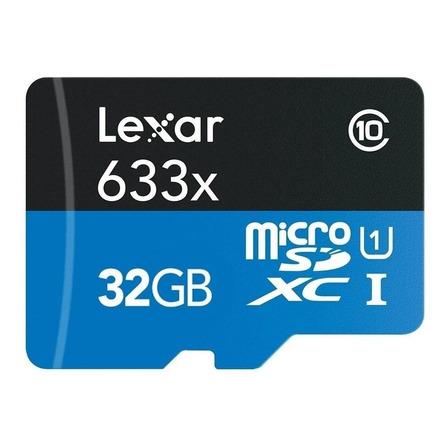 Cartão de memória Lexar LSDMI32GBB-633A High-Performance 633x com adaptador SD 32GB
