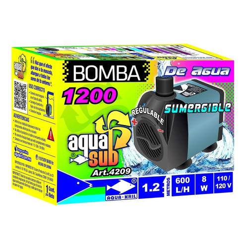 Bomba De Agua Mini Sumergible 1.2m Acuario Fuente 4209