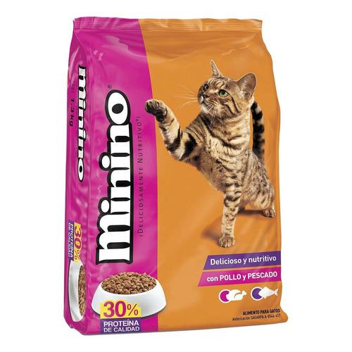 Alimento Minino para gato todos los tamaños sabor pollo/pescado en bolsa de 15kg