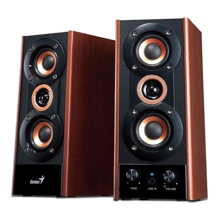Parlante Genius SP-HF800A negro y madera