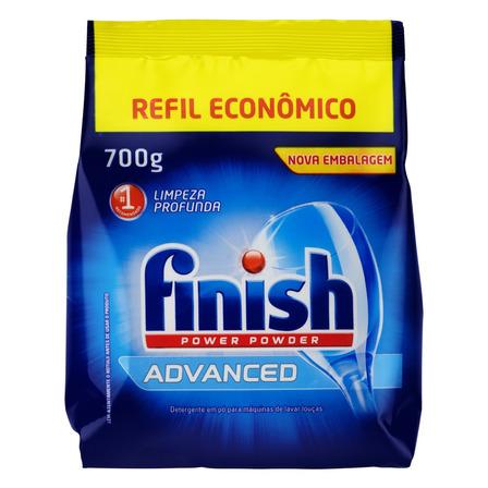Detergente para lava-louças Finish Advanced Power Powder em pó em pacote 700g