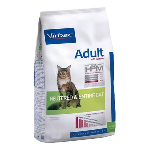 Alimento Virbac Veterinary HPM Neutered & Entire para gato adulto sabor salmón en bolsa de 3kg