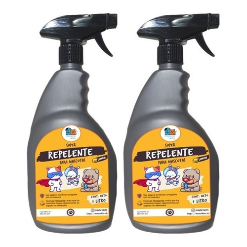 Kit Repelente Para Perro Y Gato 1 Litro