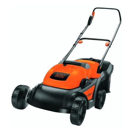 Cortador de grama elétrico Black+Decker GR3800 com cesto recolhedor 1600W laranja e preto 220V