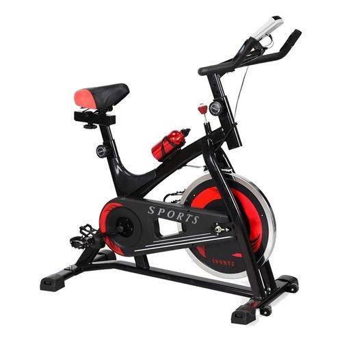 Bicicleta fija Centurfit MKZ-CFBICI6KGNEG para spinning negra y roja