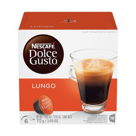 Cápsulas de café lungo Nescafé Dolce Gusto sin TACC 16u