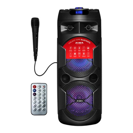 Parlante Aiwa AW-T451D portátil con bluetooth  negro 220V