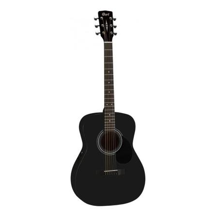 Guitarra electroacústica Cort Standard AF510E abeto black satin derecha