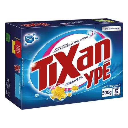 Sabão em pó Tixan Ypê Primavera caixa 500g