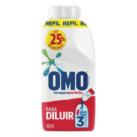 Sabão concentrado Omo Lavagem Perfeita frasco 500ml