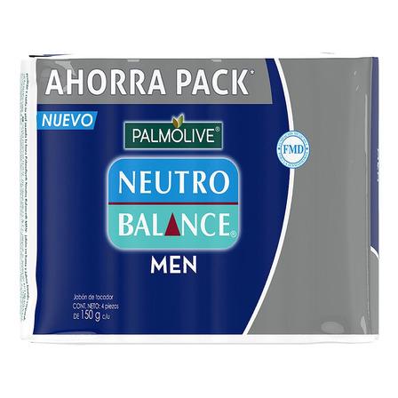 Jabón en barra Palmolive Neutro Balance Men 150g 4u
