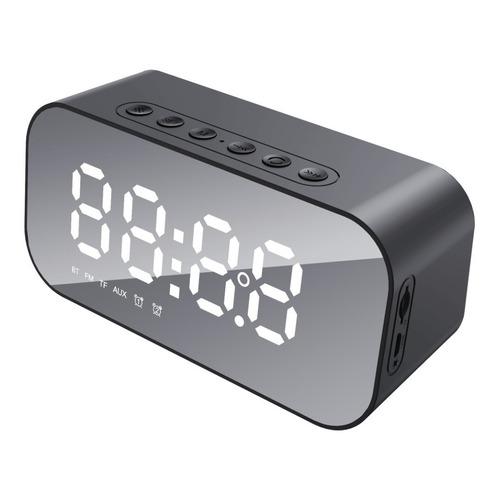 Reloj Despertador Bluetooth Con Bocina Recargable Usb Tedge