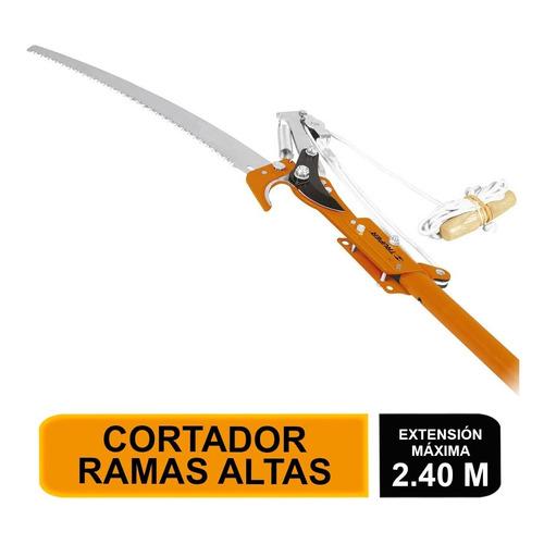 Cortador Ramas Altas, Mango Telescópico,aluminio 2.4m 18409