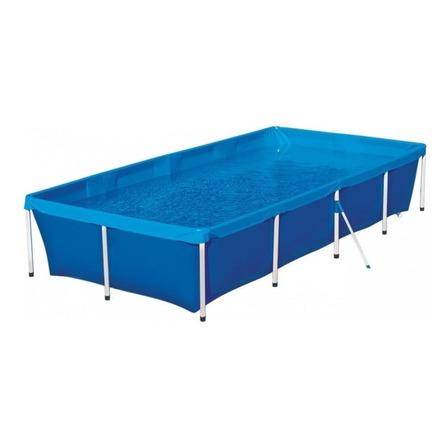 Piscina estrutural retangular Mor 001005 com capacidade de 3000 litros de 3.2m de comprimento x 1.64m de largura azul