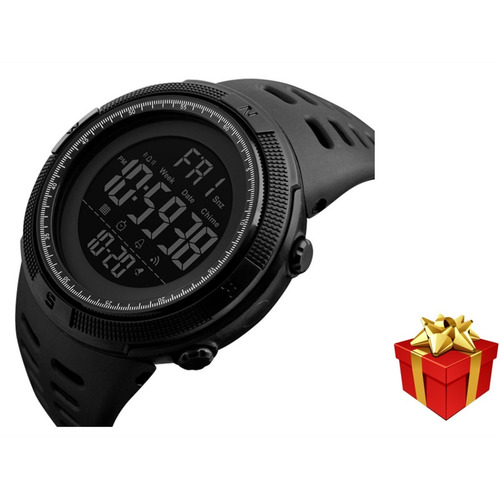 Reloj Digital Skmei 1251 Deportivo Digital Negro Y Regalo