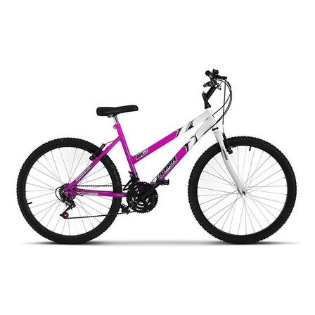 Bicicleta  Ultra Bikes Bike Aro 26 bicolor 18 marchas aro 26 18v freios v-brakes cor rosa/branco