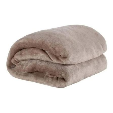 Cobertor Life Tex II Microfibra Casal marrom-claro liso