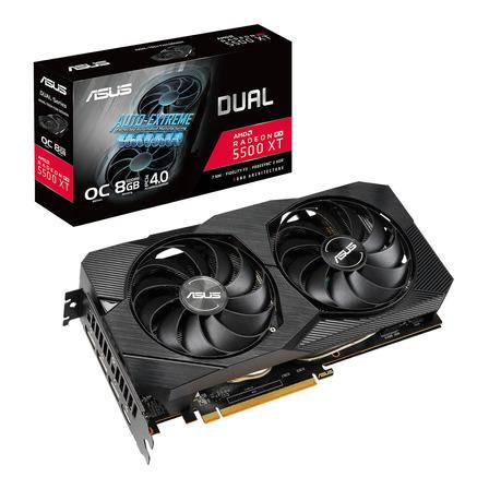 Placa de video AMD Asus  Dual Radeon RX 5500 Series RX 5500 XT DUAL-RX5500XT-O8G-EVO OC Edition 8GB