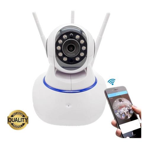 Câmera Ip 3 Antenas Wifi Visão Noturna Auto Tracking