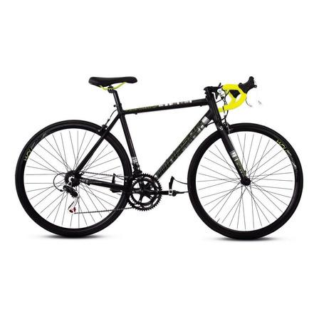 Bicicleta ruta Mercurio Ruta Renzzo  2020 R700 14v cambios Shimano color negro mate/amarillo neón
