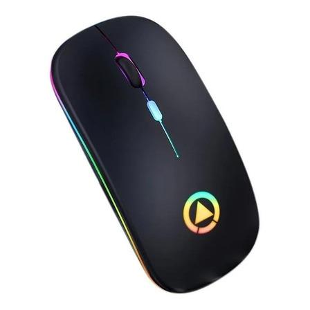 Mouse de juego inalámbrico recargable Yindiao  A2 negro