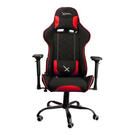 Silla de escritorio Xzeal XZ25 gamer ergonómica  negra y roja con tapizado de tela