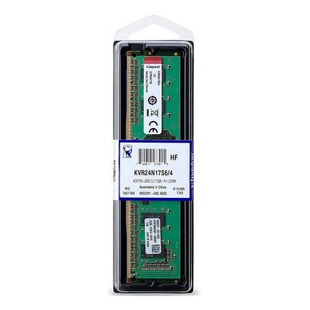 Memoria RAM 4GB 1x4GB Kingston KVR24N17S6/4 ValueRAM
