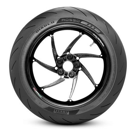 Pneu traseira para moto Pirelli Supersport Diablo Rosso II para uso sem câmara 140/70 R17 H 66