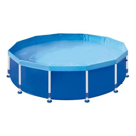 Piscina estrutural redonda Mor 001008 com capacidade de 5500 litros de 3.02m de diâmetro azul