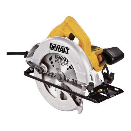 Serra circular elétrica DeWalt DWE560 184mm 1400W amarela 110V