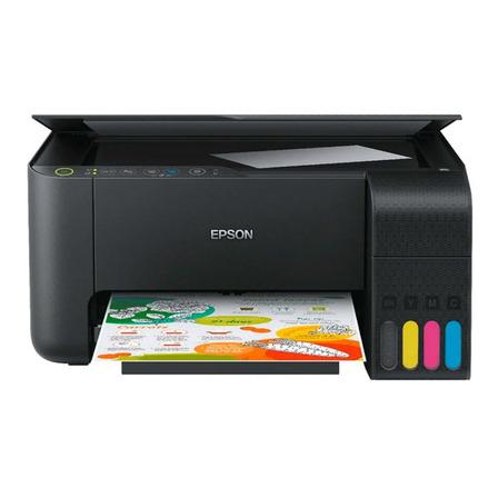 Impressora a cor multifuncional Epson EcoTank L3150 com wifi 110V/220V preta
