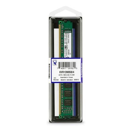 Memoria RAM ValueRAM color Verde  4GB 1 Kingston KVR13N9S8/4