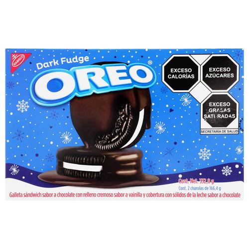 Galleta OREO Dark Fudge de chocolate y vainilla 332.8g pack x 2u