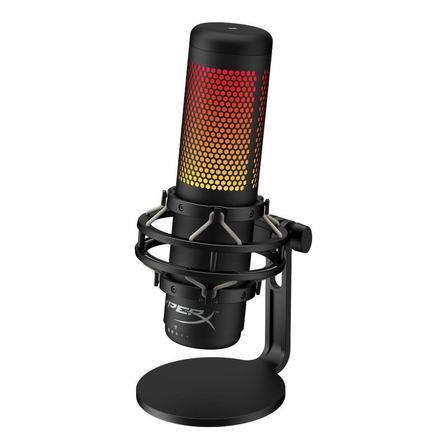 Microfone HyperX QuadCast S condensador  multi-padrão preto