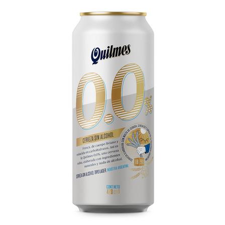 Cerveza Quilmes 0.0% Sin alcohol rubia sin alcohol lata 473mL