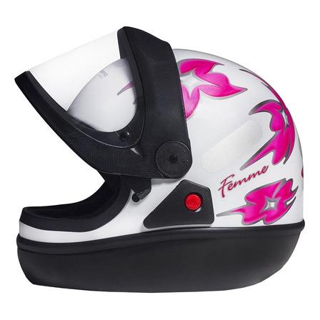 Capacete para moto  integral San Marino  Femme  branco tamanho 58