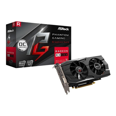 Placa de video AMD ASRock  Phantom Gaming D Radeon RX 500 Series RX 580 PG D RADEON RX580 8G OC OC Edition 8GB