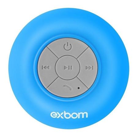 Caixa de som Exbom CS-A6BT portátil com bluetooth azul