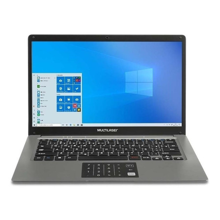 "Notebook Multilaser Legacy Cloud PC131 cinza 14"", Intel Atom X5-Z8350 2GB de RAM 32GB SSD 1366x768px Windows 10 Home"