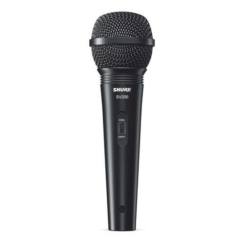 Micrófono Shure Sv200 Cardioide De Mano Con Cable