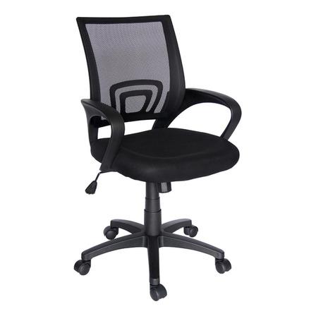Silla de escritorio Econosillas Ecochair ergonómica  negra con tapizado de mesh y tela microespacial