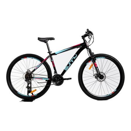 Mountain bike Sunny MTL 290 R29 M 21v frenos de disco mecánico cambios Sun Run y Shimano Tourney color negro/celeste