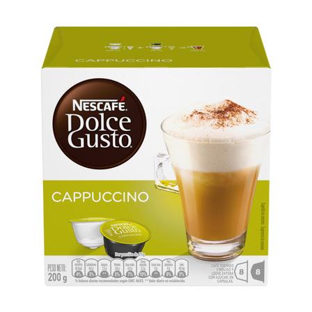 Cápsulas de café cappuccino Nescafé Dolce Gusto 16u