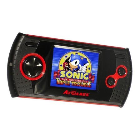 Console AtGames Arcade Gamer Portable preto e vermelho