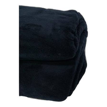 Frazada Dkama Microfibra 2 1/2 plazas negra lisa